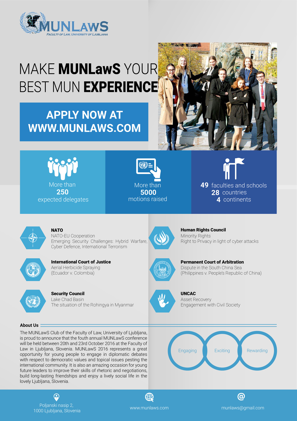 International MUNLawS 2016 Conference 20.10.2016.